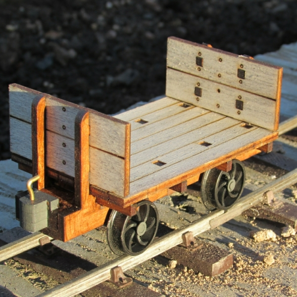 Cornish slate wagon overall view