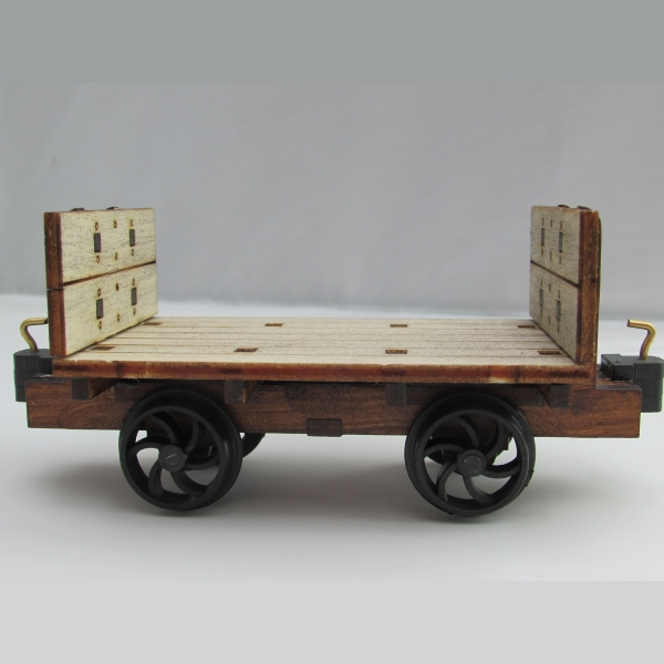 Cornish slate wagon side view