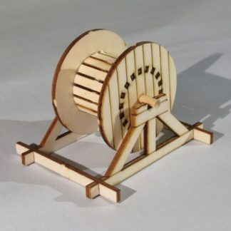 Wooden Cable Drum - 3/4 view