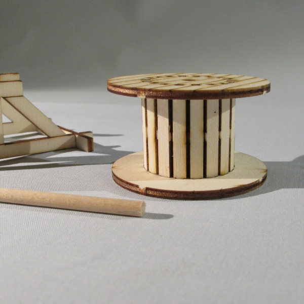 Wooden Cable Drum - side view