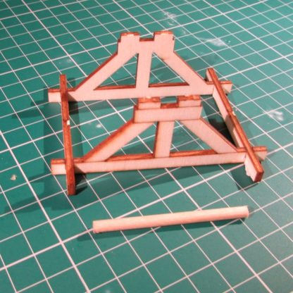 Wooden Cable Drum - drum stand and axle