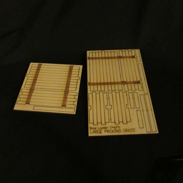 Large Packing Crate - kit components