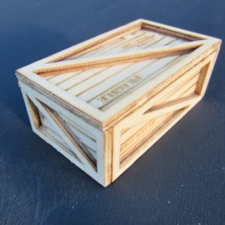 Medium Sized Wooden Crate With Lettering - 3/4 view