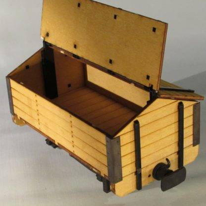 Permanent Way Department Tool Wagon - Open Roof