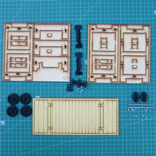 Trefor Flat wagon - Kit Contents