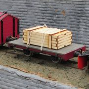 Flat Wagon with additional large packing crate
