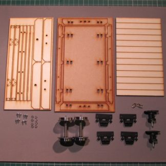 Flat wagon - kit components