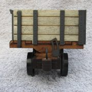 side tipping wagon - end view