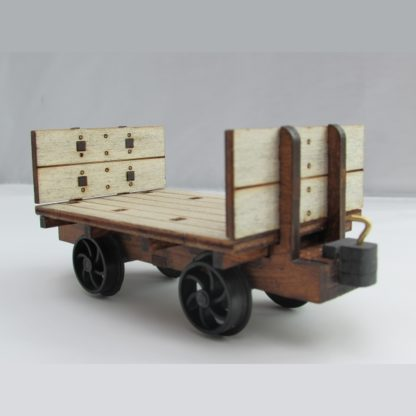 Cornish slate wagon 3/4 view