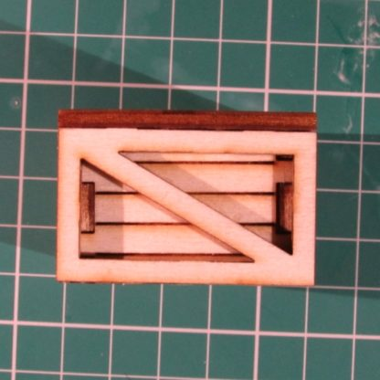 Medium Packing Crate - end view