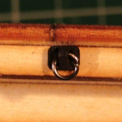 Flat wagon - load securing ring