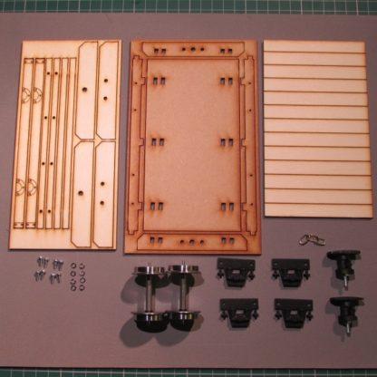 Flat wagon - kit components