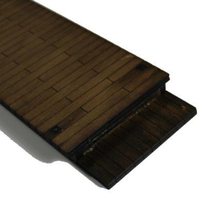 wooden station platform - step end