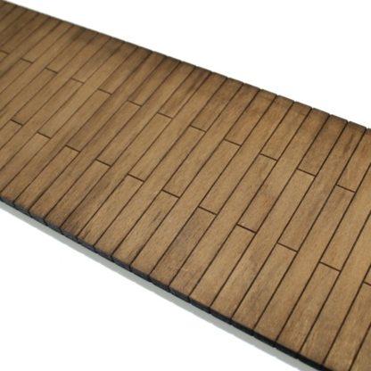 wooden station platform - close up of planking