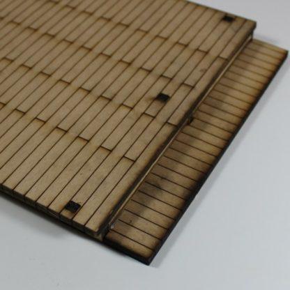 wooden station platform - wide step