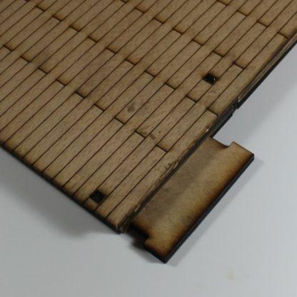 wooden station platform - connector plate