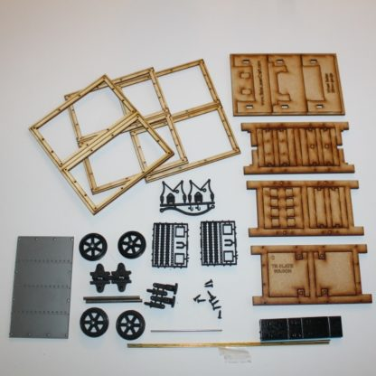 Talyllyn Railway Slate Wagon - kit contents